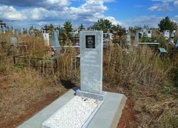 Памятник из мрамора с плиткой