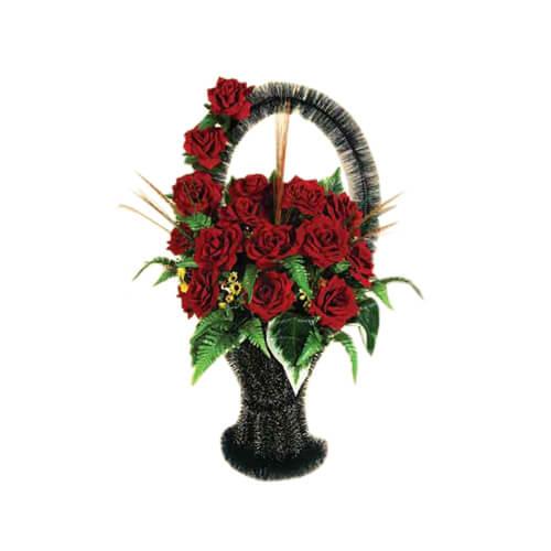 Уход за могилой, посадка цветущих растений Орен Мрамор