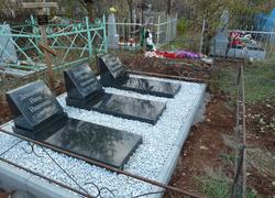 Гранитные памятники с надгробной плитой
