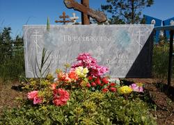 Мраморный памятник горизонтальный